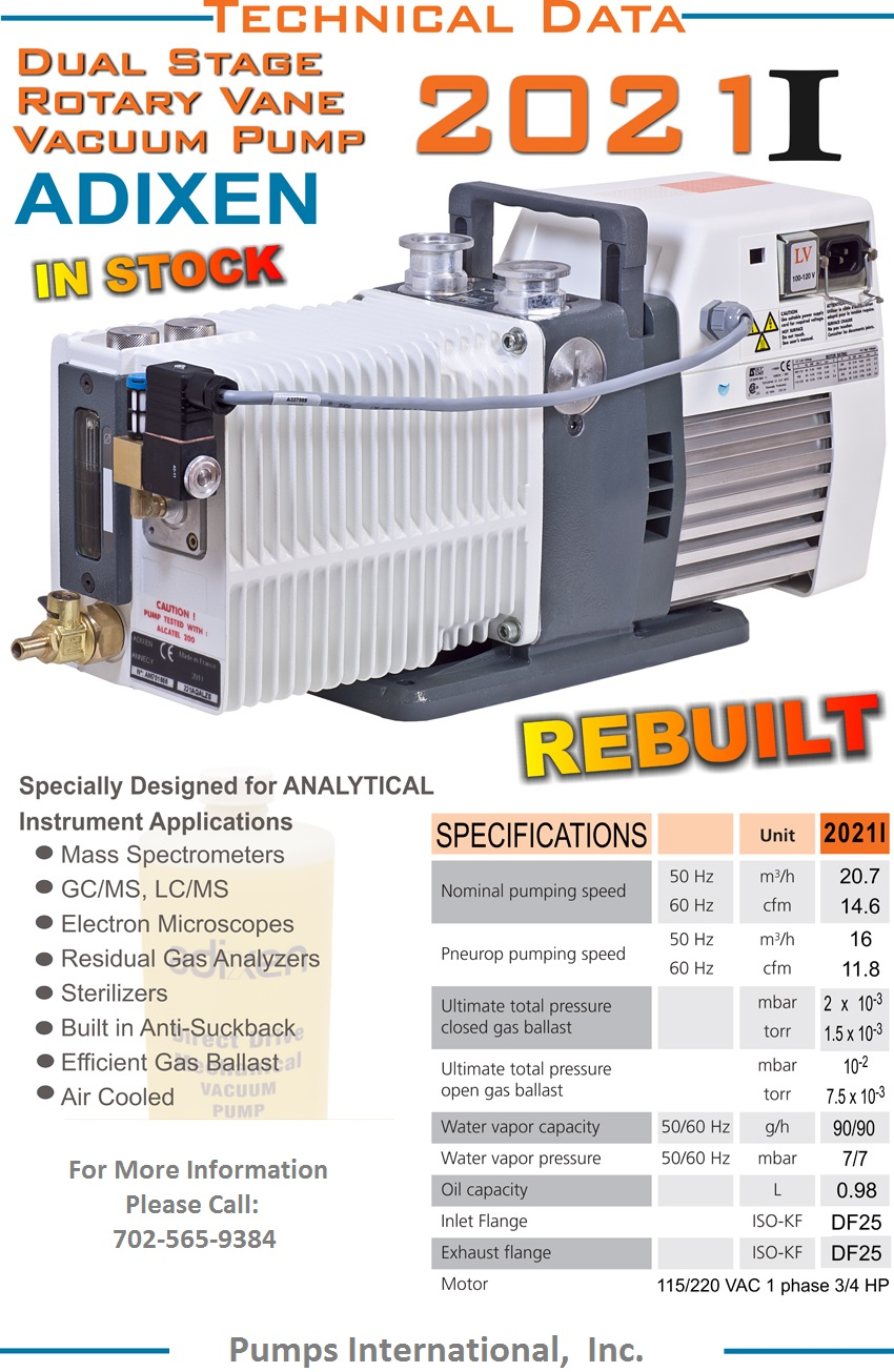 Pumps International Incvacuum Pump Surplus On Special Vacuum Diagram Or Only The 2021i